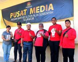Lawatan ke Pusat Media PRK Semenyih.