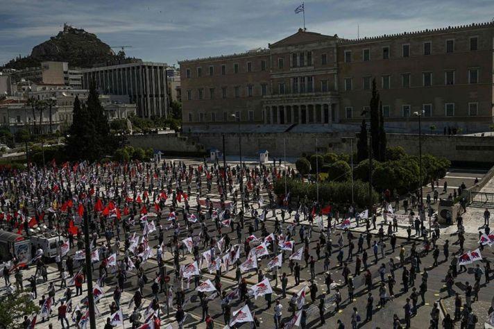 Greece Athens - Parlimen PAME - Aris Messinis - AFP